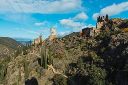 Lastours castles (Cathar Castles) in the south of France