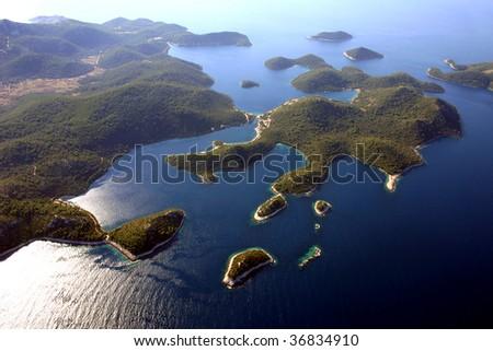 Lastovo islands in Croatia, Adriatic sea -aerial view