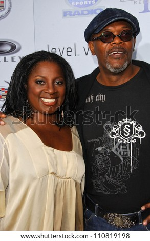 "LaTanya Richardson and Samuel L Jackson at the Los Angeles Premiere of ""Resurrecting The Champ"". Samuel Goldwyn Theater, Beverly Hills, CA. 08-22-07"