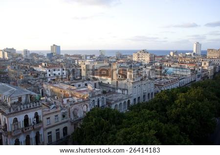 Late afternoon sun over Consulado Street, Havana, Cuba