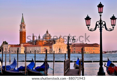 late afternoon  view to San Giorgio Maggiore venice, Italy