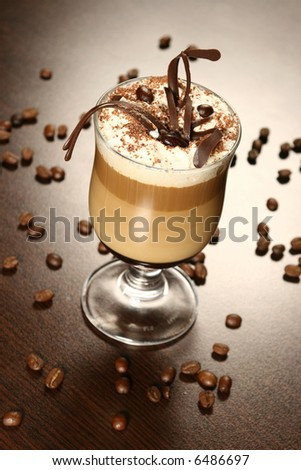 late coffee with chocolate - stock photo