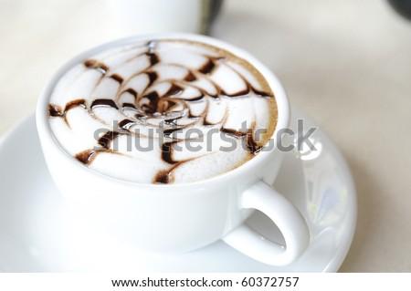 late coffee with chocolate - coffee with white chocolate