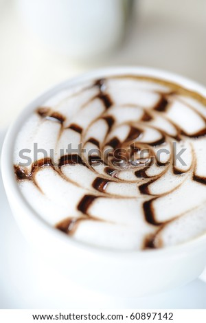 late coffee with chocolate - coffee with white chocolate