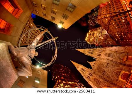 Late Evening at Rockefeller Center