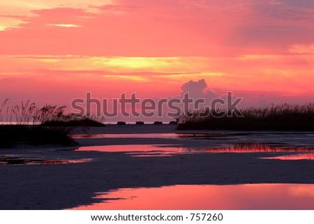 Late evening glow.Treasure Island Florida