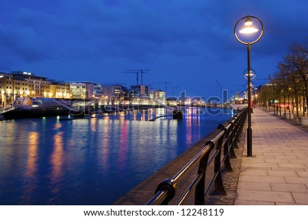 Late hours in Dublin, Ireland.