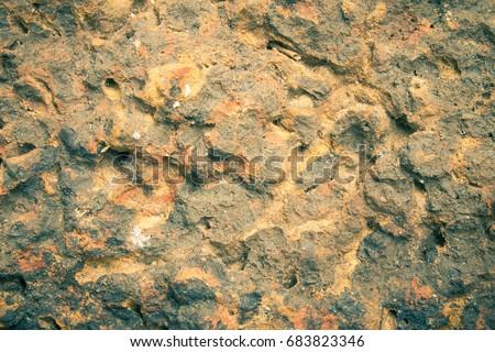 laterite stone background...