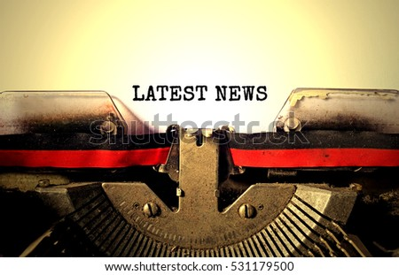 latest news typed words on a...