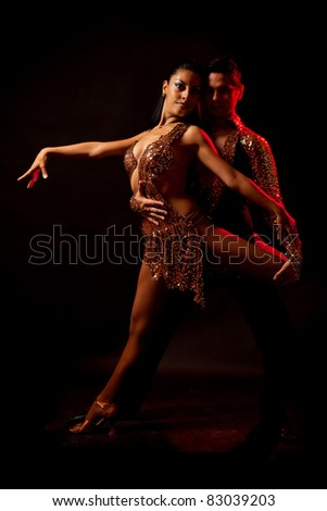 Latin dance couple - stock photo