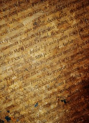Latin letters texture