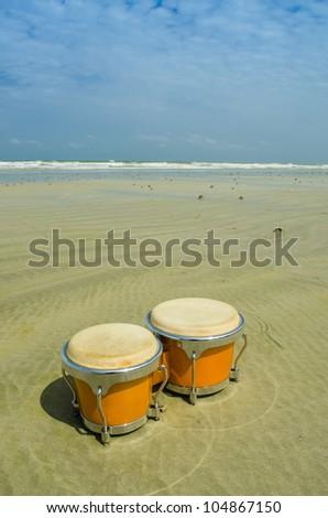 latin percussion called bongo on the beach