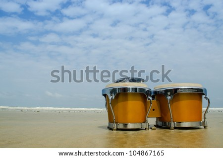 latin percussion called bongo on the beach