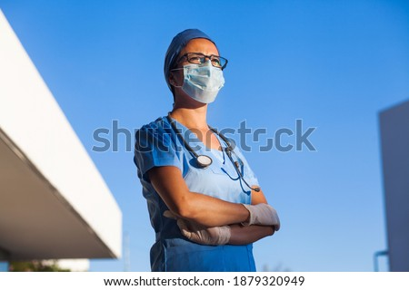 latin woman doctor portrait in a Mexican Hospital in Mexico or Latin America