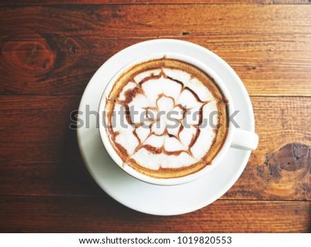 Latte art coffee #1019820553