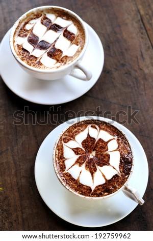 Latte art / coffee art made by barista #192759962