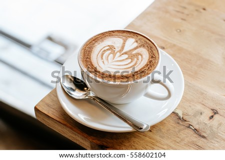 Latte art,Mocha #558602104