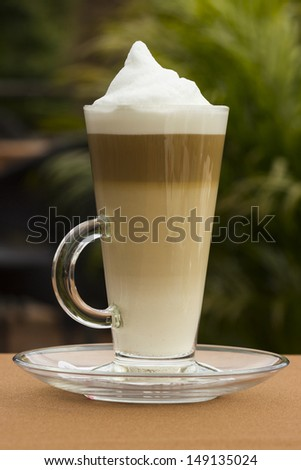 Latte coffee