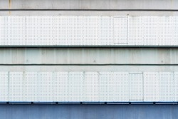 lattice wall of a building, lattice made of steel in the area