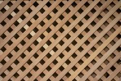 Lattice wooden walls. Light wood background