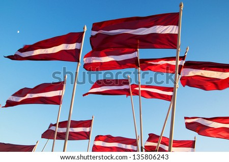 Latvian flags