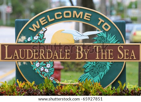 Lauderdale By The Sea Welcome Sign