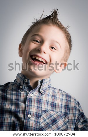 laughing boy expression