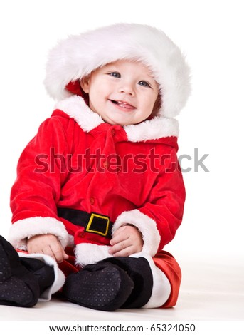 Laughing Christmas baby