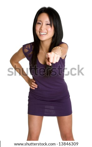 Laughing Pointing Woman
