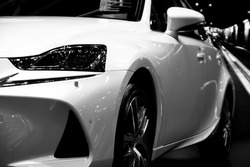 Launch a new car in black and white