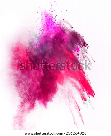 Shutterstock Launched colorful powder, isolated on black background