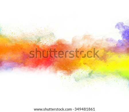 Shutterstock Launched colorful powder, isolated on white background