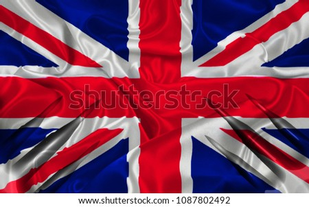 Launching missiles against the flag background United Kingdom #1087802492