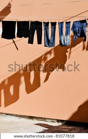 Laundry in Venice (Italy). - stock photo