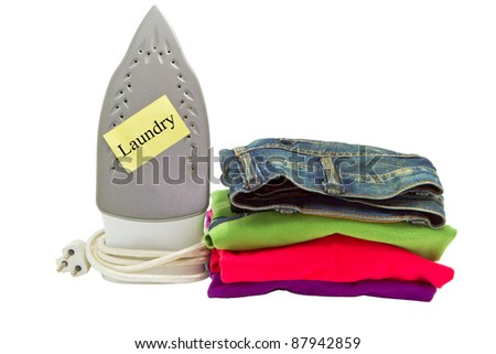 laundry service on white background