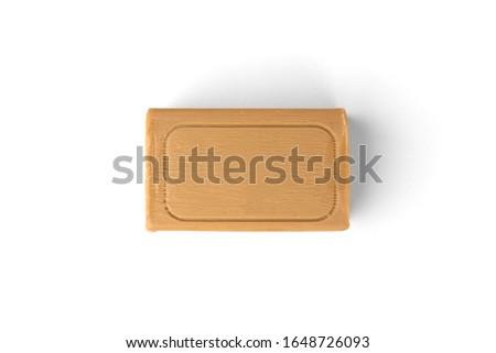 Laundry soap isolated on white background.
