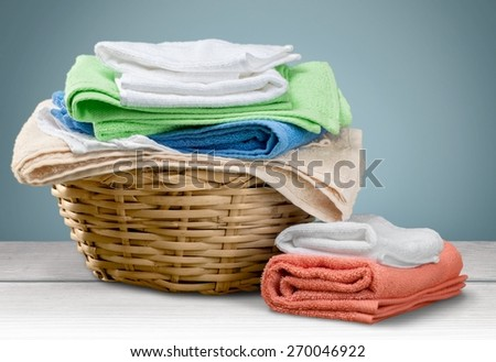 Laundry, Towel, Laundry Basket.