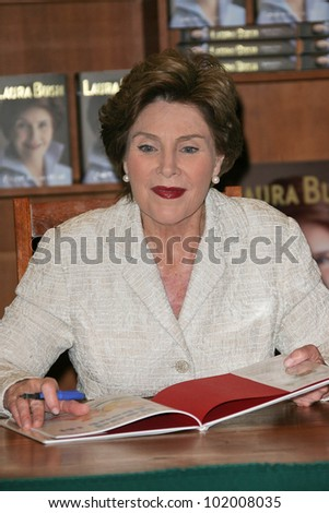 """Laura Bush at a book signing for 'Spoken From The Heart,"""" Vromans, Pasadena, CA. 05-11-10"""