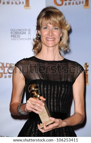 Laura Dern in the press room at the 66th Annual Golden Globe Awards. Beverly Hilton Hotel, Beverly Hills, CA. 01-11-09