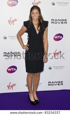 Laura Robson arriving for The WTA Pre Wimbledon Party, Rooftop Gardens, Kensington London. 16/06/2011  Picture by: Simon Burchell / Featureflash