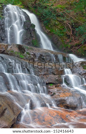 Laurel Falls in the Tennessee Smokey Mountains