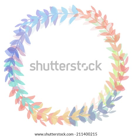 Laurel Wreath. Round Laurel Wreath Frame. Circle Wreath.