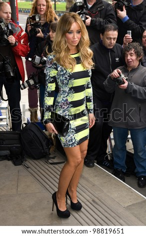Lauren Pope arriving for the TRIC Awards 2012, at the Grosvenor House Hotel, London. 13/03/2012 Picture by: Simon Burchell / Featureflash