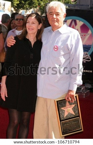 Lauren Shuler Donner and Richard Donner at ceremony honoring Lauren Shuler Donner and Richard Donner with Double Stars on the Hollywood Walk of Fame. Hollywood Boulevard, Hollywood, CA. 10-16-08
