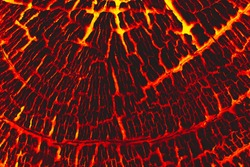 Lava burn wood texture background.