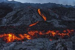 Lava channel Big Island, Hawaii