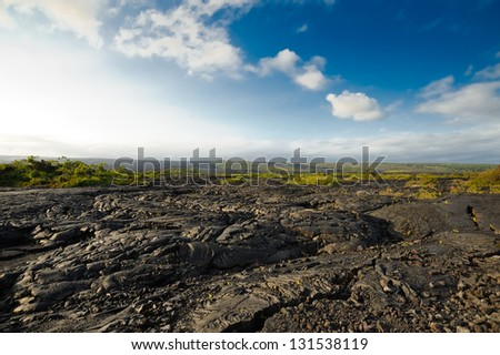 Lava in Hawaii Big Island