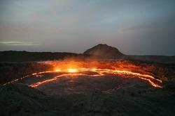 Lava lake, Crater, Erta Ale active volcano, Ethiopia, Africa