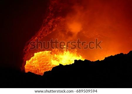 Lava Lake of Masaya volcano