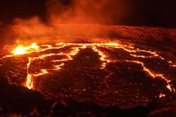 lava lake of the volcano
